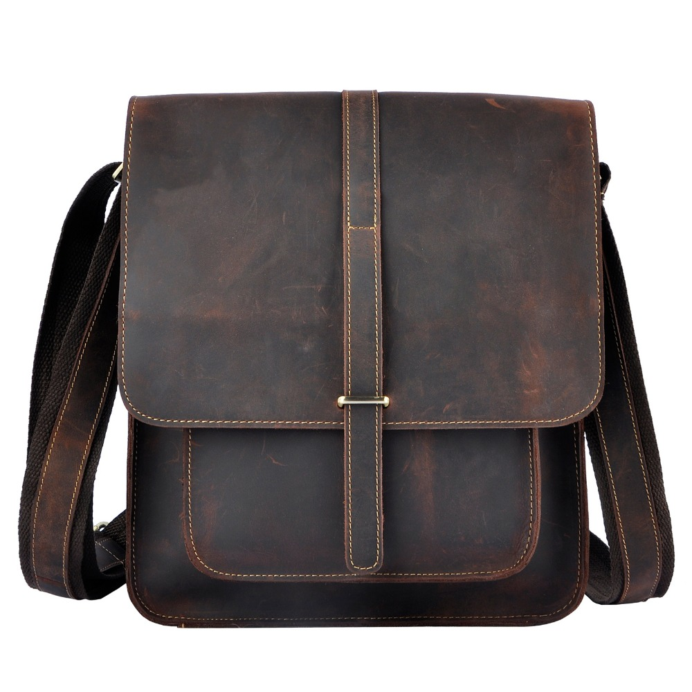 New Fashion Real Leather Male Casual Messenger bag Satchel cowhide 12 Laptop Bag Cross-body Shoulder bag For Men 5867 new trend sale men s genuine leather business casual messenger shoulder bag tablet satchel cross body book bag black t0985