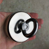 1pcs 120kg Pulling Mounting D75mm Strong Powerful Neodymium Magnetic Pot With Ring Fishing Gear Deap Sea