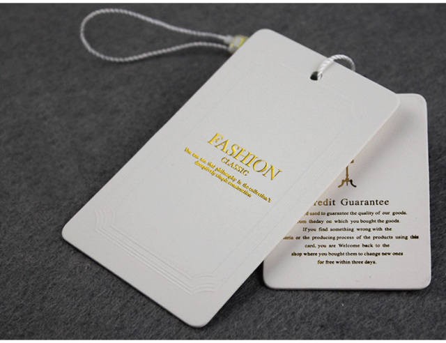 Custom Hang Tags Clothing Printed Paper Swing Tag