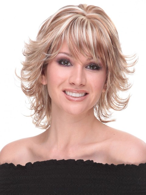 Yhair Short Blonde Wavy Wigs With Bangs Synthetic Hair Bob For Women Heat Resistant Without