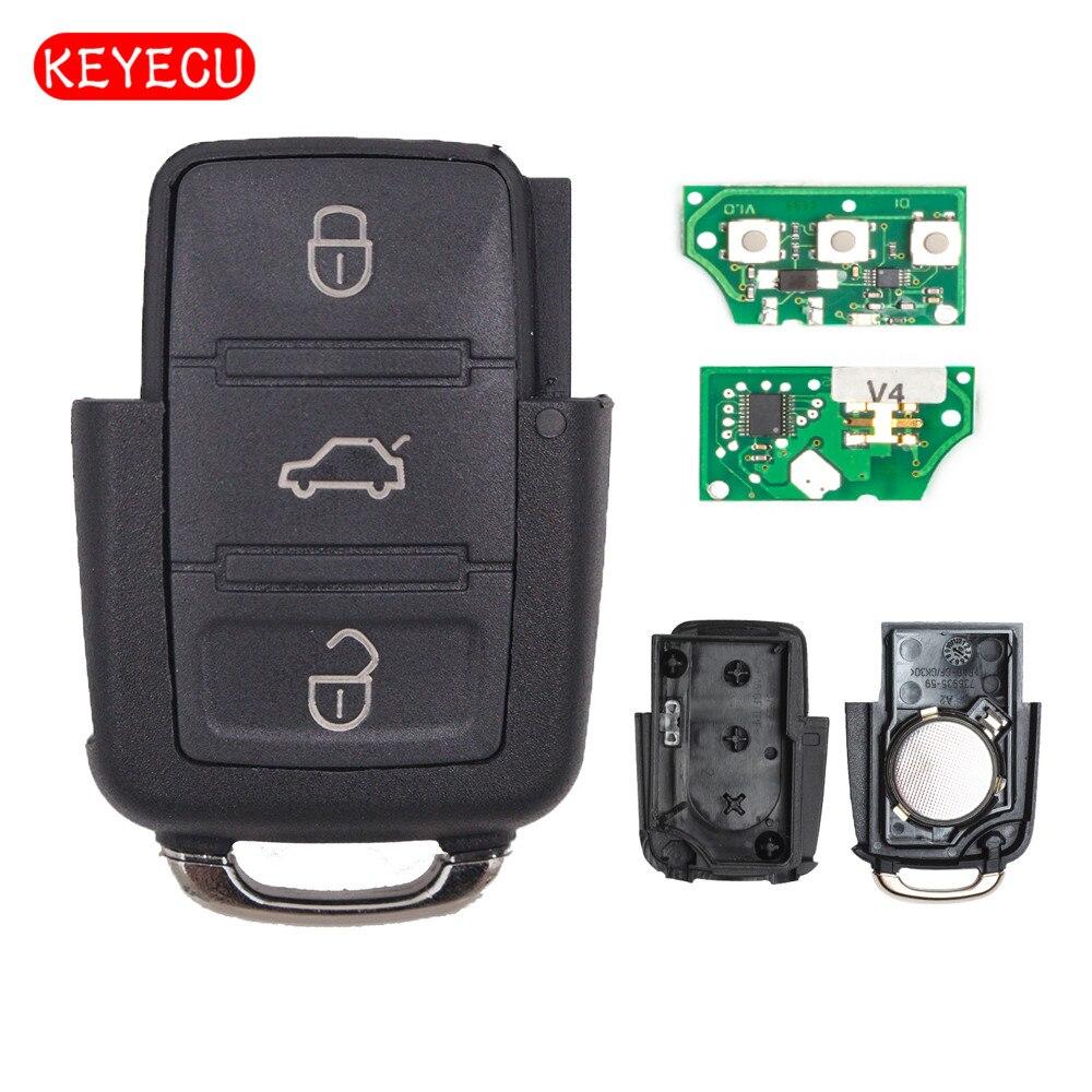 2002 Volkswagen Jetta Key: Keyecu Remote Key 3 Button 433MHZ For VOLKSWAGEN Beetle