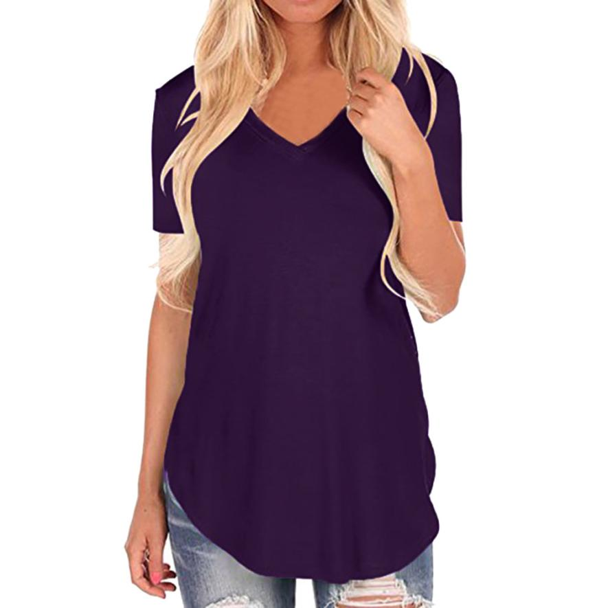Feitong Women Vest Fashion Sexy Tank Button T Shirt Print Short Sleeve Tops Solid T-shirt Ladies Streetwear 2019 Camiseta Mujer Handsome Appearance T-shirts Women's Clothing