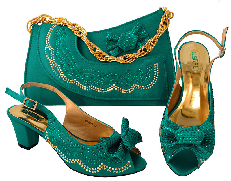 Teal shoes 2018 newest fashion shoes and bag matching set high quality with big size 38 to 43 free shipping SB8094-1 cd158 1 free shipping hot sale fashion design shoes and matching bag with glitter item in black