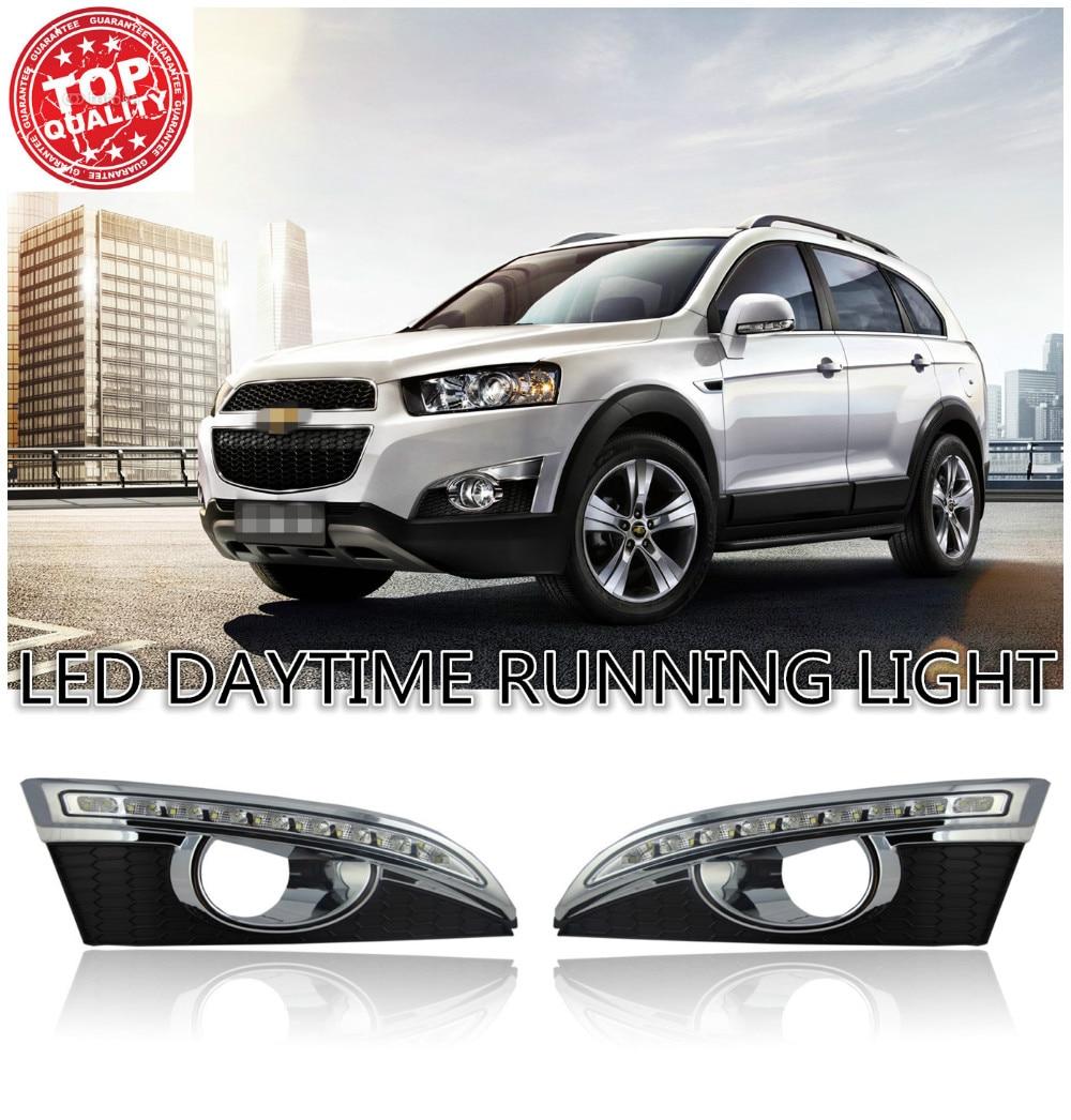 2шт/набор СИД DRL дневного света лампы автомобиля LED дневного света DRL для Шевроле Каптива 2011 2012 2013 2014