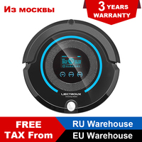 Liectroux A338 Robot Vacuum Cleaner with LCD Touch Screen, Robot Cleaner with Auto Recharge, Central Brushes, Schedule Cleaning