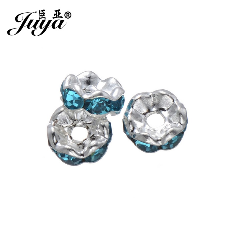 JUYA 50pcs lot 6mm Round Crystal Beads for Bracelet Pendant Necklace Jewelry Making Accessories Wholesale Lots Bulk PR0006 in Beads from Jewelry Accessories
