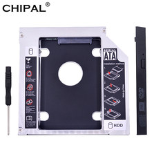 "CHIPAL Universal 2nd HDD Caddy 12,7 MM para 2,5 ""12,5mm 9,5mm 9mm 7mm SSD HDD caja + Dual LED para el ordenador portátil DVD-ROM CD-ROM(China)"