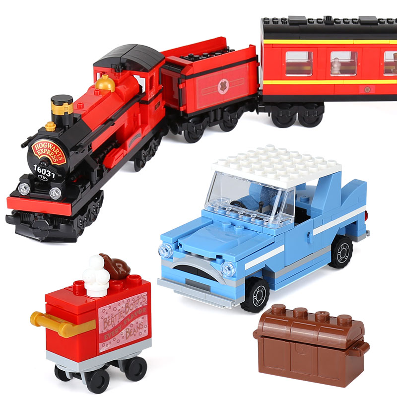 Lepin 16031 Genuine Movie Series The Hogwarts Express Set 4841 legoinglys Building Blocks Bricks Educational Boy`s Toys As Model lepin 16030 1340pcs movie series hogwarts city model building blocks bricks toys for children pirate caribbean gift
