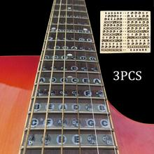 3pcs/lot Guitar Neck Fretboard Note Map Fret Sticker Lables Decals Learn Fingerboard Accessories