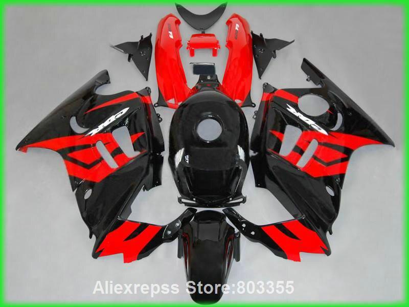 Горячая распродажа Зализа комплект для Honda ЦБ РФ 600 F3 95 96 Обтекатели ЦБ РФ 600 ( черный красный линия) обтекатель комплект 1995 & 1996 xl88