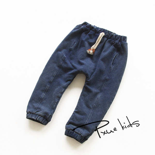 Novos meninos de Inverno calças de brim 2016 JCHAO Crianças Denim Calças Quentes de Espessura Crianças casuais Além de Cashmere Meninas calças de Brim Menino Calças para 2-7 y
