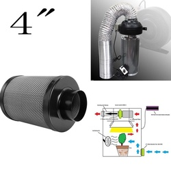 4 угольный фильтр, контроль запаха для гидропоники, комнатных растений, палатка для выращивания, садовый воздушный фильтр, только отправляе...