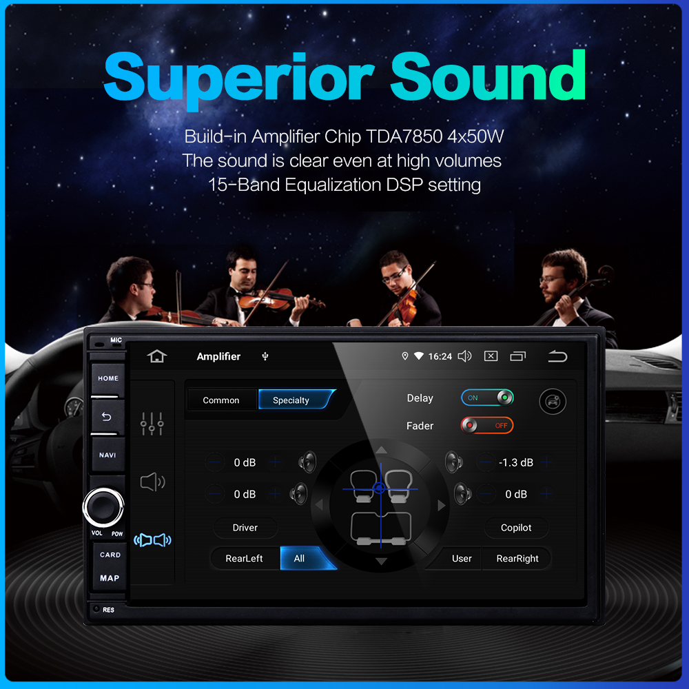 """Image 5 - Dasaita Android Universal Car 2 Din Radio 7"""" IPS Screen Android 9.0 Stereo Multimedia Navigation for Nissan Built in DSP-in Car Multimedia Player from Automobiles & Motorcycles"""