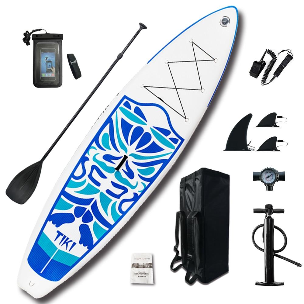 Caiaque inflável Stand Up Paddle Board Sup-Board Prancha de Surf definir 10'6