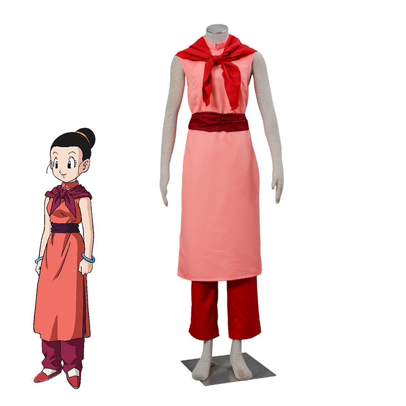 Anime Dragon Ball Chichi Cosplay Costume Halloween Carnival Outfits Sleeveless Women Chinese Kungfu Cheongsam Custom Made