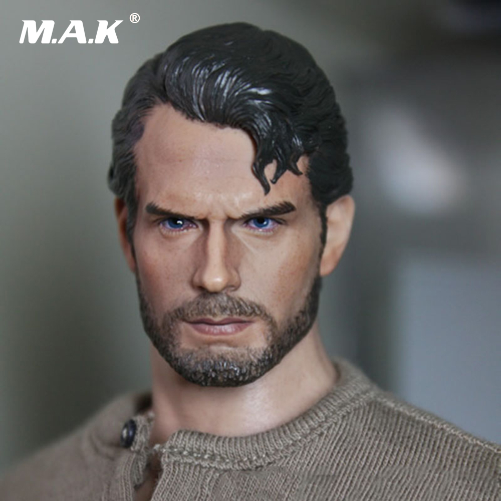 1/6 Scale Superman Henry Carvill Head Sculpt Beard Ramped Worker's Decadent Edition Headsculpt Model for 12 inches Male Figure 1 6 scale the game of death bruce lee head sculpt and kungfu clothes for 12 inches figures bodies