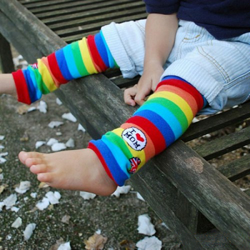 Baby Knee Pads Cotton Striped Leg Warmers For Girls Baby Kids Infant Knee High Socks Christmas Infant Knee Pads For Crawling