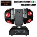 Gigertop 150 Вт RGBW супер луч светодиодный движущийся лазерный луч 2в1 Ultimated вращение 2 зажим для подвешивания DMX512/Звук/Авто запуск