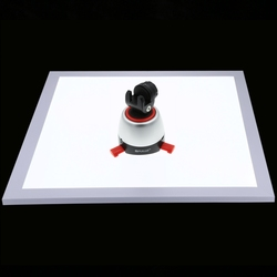 PULUZ 1200LM LED Photography Shadowless Bottom Light with Switch, Acrylic Material,No Polar Dimming Light Size 38*38*1cm