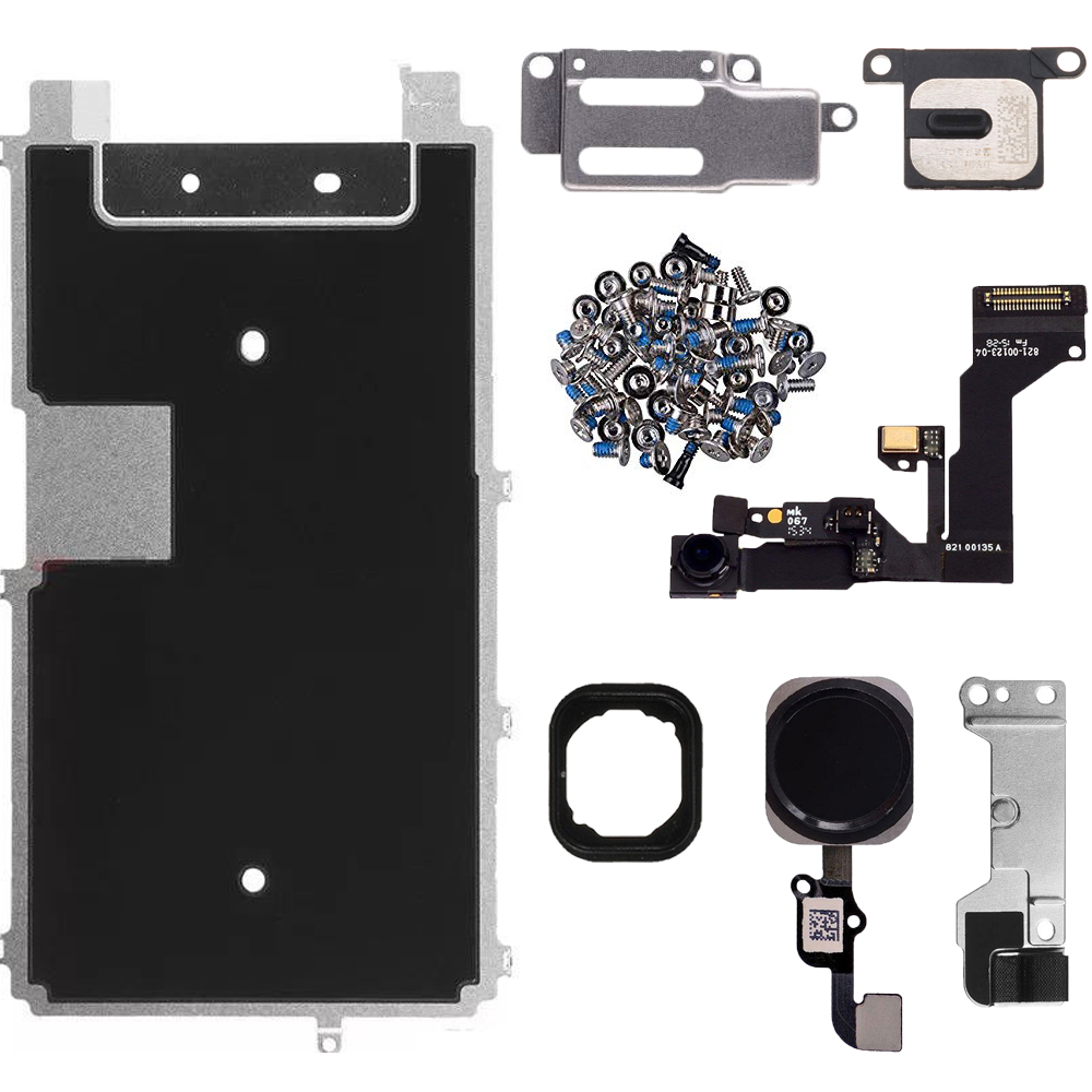 HOUSTMUST For iphone 6s Full LCD Display Repair Parts Front Camera Ear Speaker home button flex cable metal plate bracket image