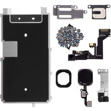 מלא LCD תצוגת חלקי מול מצלמה אוזן רמקול לחצן בית מפתח להגמיש כבל מתכת צלחת סוגר עבור iPhone 6s 6s בתוספת