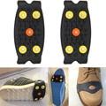2017 Novo Design de Moda Unissex Anti Slip Spikes Grips Grampos Crampon Escalada No Gelo Sapatos Cobrir Prático Ice Gripper Jan16 5-Stud