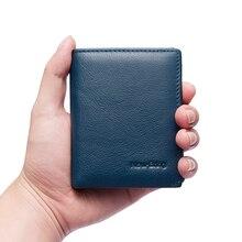 NewBring minimalistyczny portfel skórzany męski z etui na karty kredytowe torebka męska