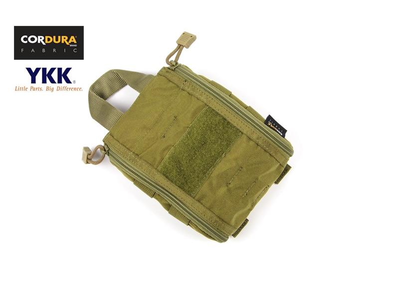 Emergency MOLLE Trauma Kit Pouch Khaki Cordura Medical Pouch Bag+Free shipping(XTC050207)