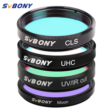 цена на SVBONY 1.25''UHC+CLS+Moon+UV/IR Cut Filters for Astronomy Telescope Monocular Astronomical Observations of Deep Sky Object