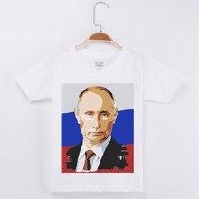 b27d18b81 Chico camiseta Rusia Putin de algodón de dibujos animados de niño camisas  niños Camiseta de manga corta ropa de chica ropa Top e.