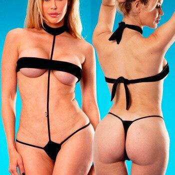 Micro Bikini Set Sunbath Beach Swimwear G-String