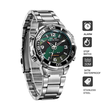 WEIDE Mens Fashion Stainless Steel Strap Army Luxury Brand alarm quartz analog digital display movement Sports Watches Clock weide brand big dial army military japan quartz watch movement analog digital display water resistant leather strap alarm clock