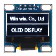 0.98 OLED Module White Color 128X64 LCD Display IIC DIY For