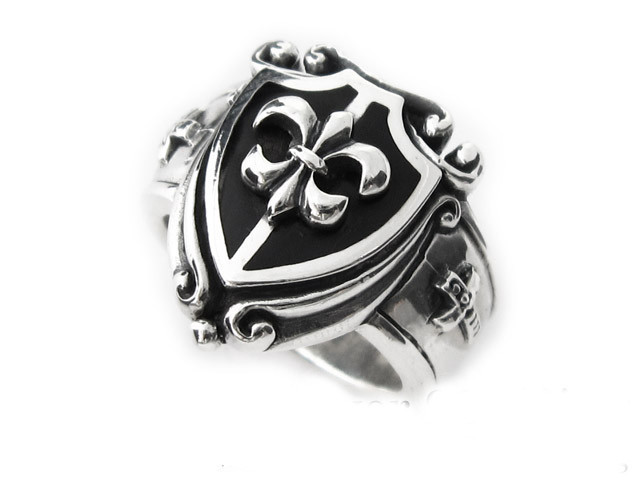 Buy hot silver black shield 925 sterling silver rings and silver cross retro mens index finger ring