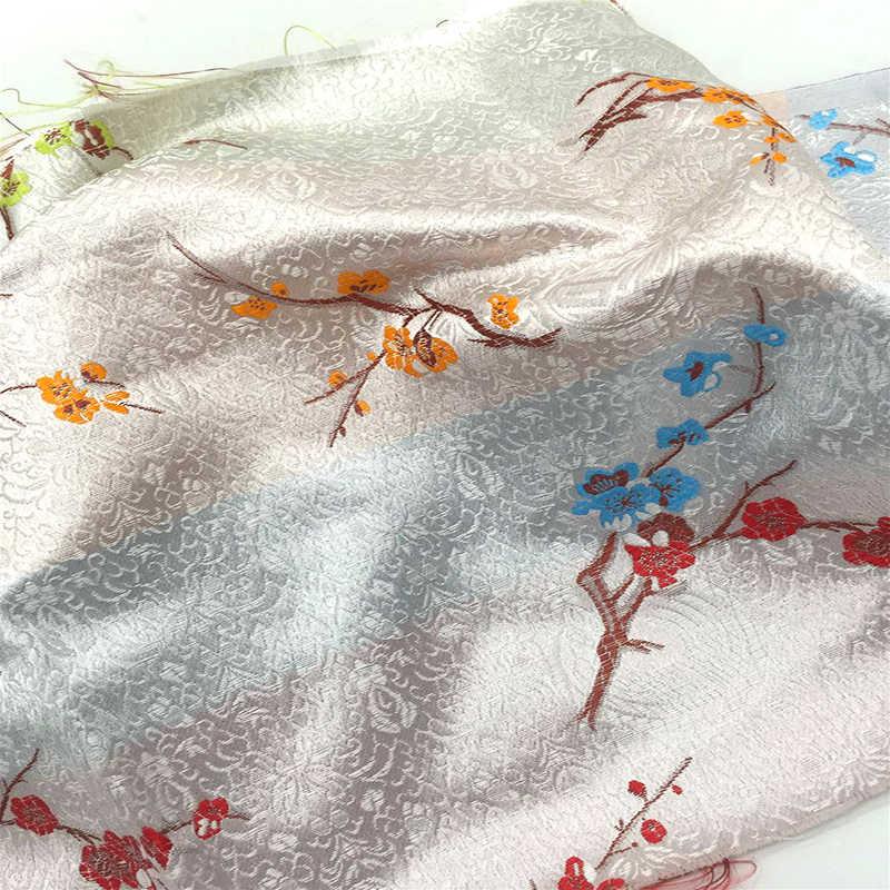 Importato Giapponese stile plum Metallico Jacquard Brocade Fabric, 3D jacquard tinto in filo tessuto forWomen Cappotto del Pannello Esterno Del Vestito per metro