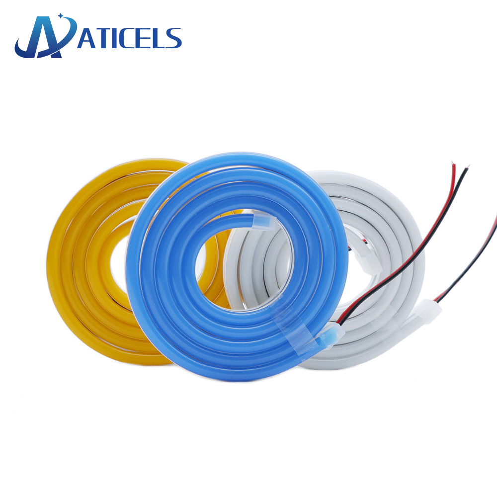 12v Led Neon Strip Light Smd 2835 120leds/M Flexible Rope Tube 6*12mm Waterproof For Diy Characters Sign Decoration Lights