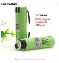 2 PCS Liitokala new original NCR18650B 3.7V 3400 mAh 18650 rechargeable lithium battery for Panasonic battery + DIY nickel part