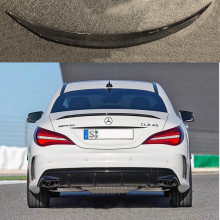 For Mercedes-Benz CLA W117 CLA180 CLA200 CLA250 CLA260 Carbon Fiber Rear Trunk Wing Spoiler CLA45 AMG Style 2014 - UP цена