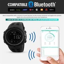 SKMEI Men font b Smart b font font b Watch b font Bluetooth Pedometer Calories Chronograph
