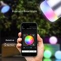 Controle APP Bluetooth Speaker Música Áudio Sem Fio Bluetooth LED 4.0 RGB Cor Inteligente Bulbo Da Lâmpada de Luz