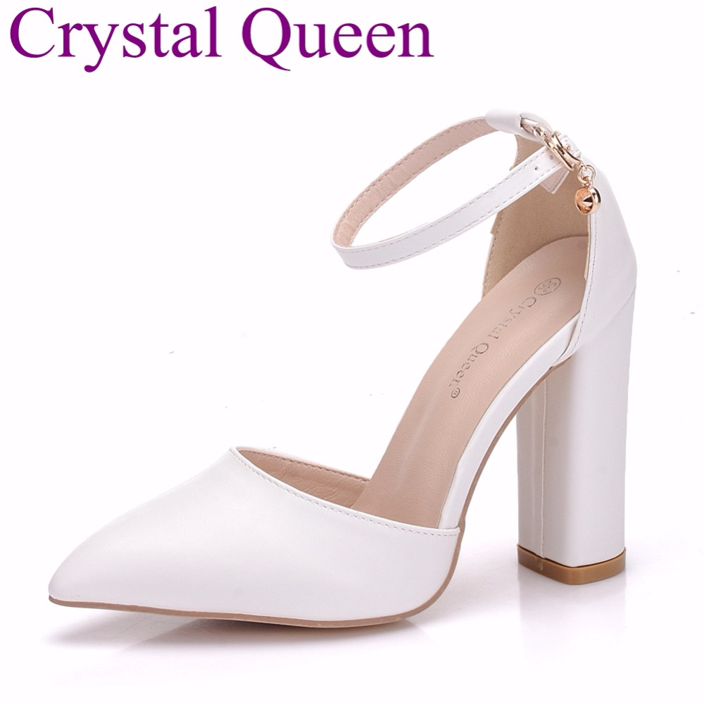 02f1eaaac9cd22 Crystal Queen Hot Sale PU Women Platform Sandals Super High Heels  Waterproof Female White Crystal Wedding