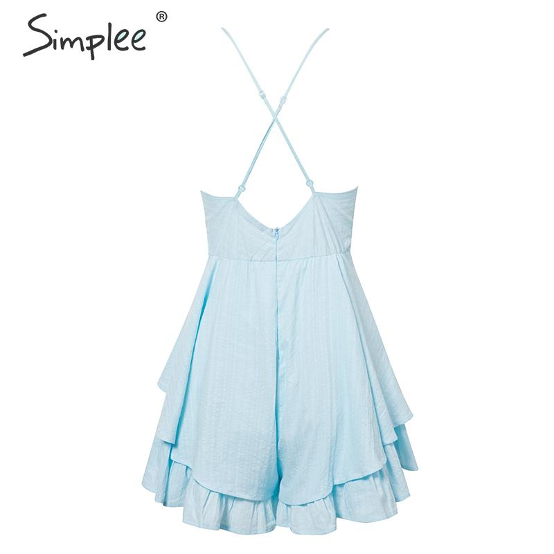 HTB1.faQNNTpK1RjSZR0q6zEwXXah - Simplee Sexy v-neck women playsuit Hollow out waist spaghetti strap ladies jumpsuit romper Summer beach wear overalls