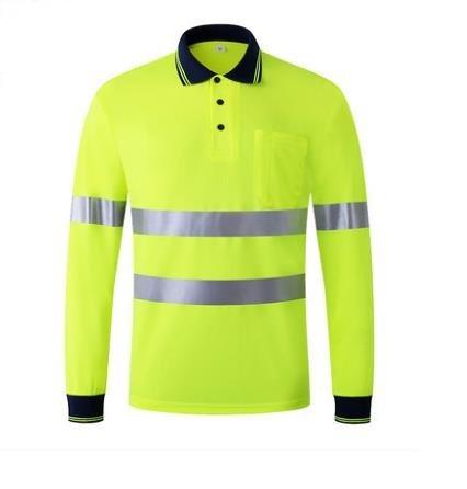 857ae4b20 New Summer Fashion Breathable Fluorescent Reflective T-shirt ShortS Traffic  Safety Warning Clothing