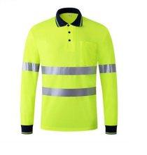 13c64d5d43 Nova Moda de Verão Respirável Reflexiva Fluorescente T-shirt Calções Roupas  Aviso de Segurança de Tráfego