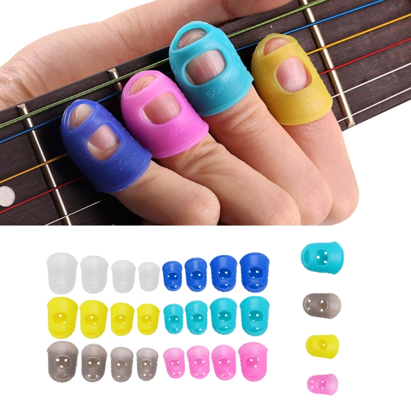 4Pcs/Set Guitar Fingertip Protectors Finger Guards For Guitar Ukulele Accessories напальчник рыболовный buff pro series finger guards toothy grey цвет серый
