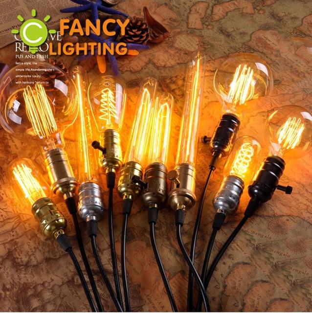 Retro lamp e27 e14 vintage edison filament light 110v 220v incandescent bulb st64 lamp for home decor bombillas outdoor lighting