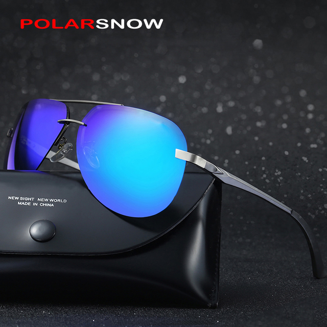 POLARSNOW Bright Polarized Sun Glasses For Men Goggle Driving Sunglasses Male UV400 Eyewear Oculos De Sol Masculino