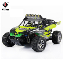 WLtoys 1:18 RC Car Electric 4WD Proportion Remote Control Desert Off-Road Vehicles 2.4GHz Big Foot Rock Rover High Speed SUV Car
