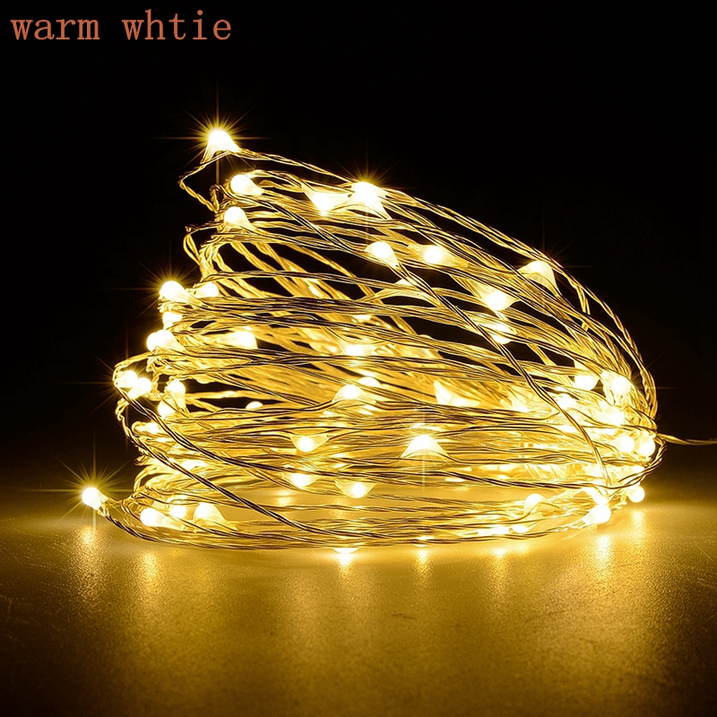 Batería Led String Light 2M 5M 10M 3 * AA con pilas Garland Al aire - Iluminación exterior - foto 5