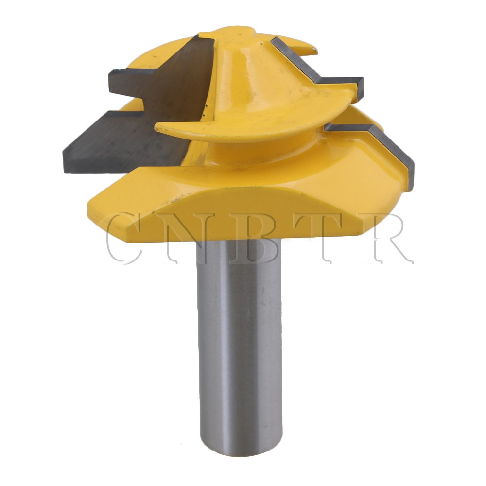 CNBTR Carbide Lock Miter Router Bit 45 Degree 2 Blade Diameter 1/2 Shank Cutter for Woodworking Drawer Doors поло trespass trespass tr795emtkq44